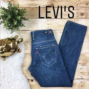 Levi's 511 Button Waist Detail Skinny Jeans